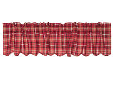 """VHC Valance Scalloped 16"""" x 72"""" with 3 1/4 Rod Pocket Header 2"""" Lined Braxton Re"""