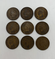Indian Head Cent Penny Lot of 9 1900-1908 Every Year