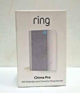 NEW SEALED Ring Chime Pro Wifi Extender & Chime For Ring Devices White Free Ship