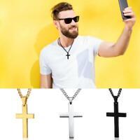 Alloy Plating Jesus Cross Crucifix Pendant Necklace Mens& Womens Extension Chain