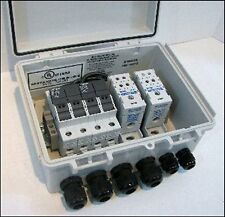 Solar Panel Combiner Box - Fused - 4-String PV Power Combiner