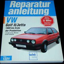 Reparaturanleitung VW Golf II + Jetta 2 mit 1,6 / 1,8 liter, ab Baujahr 1989