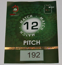OLD TICKET PASS to Pitch * Rare * EURO 2008 * Austria Poland in Wien