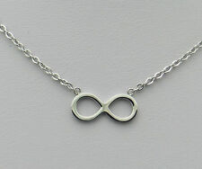 Solid Stainless Steel Infinity Figure 8 Necklace