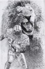 Barry Sanders Detroit Lions poster picture sketch ART