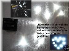8x LICHTERKETTE 80 LED WEIß SUPERHELL Batteriebetr MODELLBAU Bastler Beleuchtung