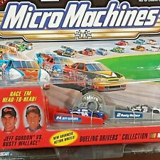 Vintage Micro Machine NASCAR #24 Jeff Gordon vs #2 Rusty Wallace Dueling Drivers