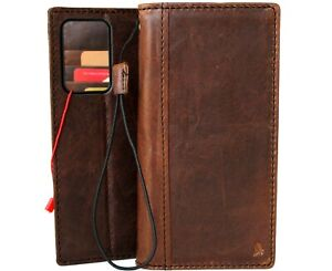 Genuine Leather Case for  OnePlus Nord N200 5G Wallet Book Dark cover 5G luxury