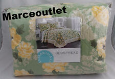 Martha Stewart Collection Old World Rose FULL Bedspread Floral Green