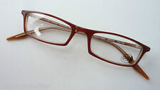 Glasses Narrow Square Shape Kunststoffrand Red Brown for Ladies Reading SIZE S