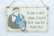 PIASTRA a parete era un freddo quando avevo subito la sua Man Flu Sign Man Grotta F0448