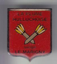 RARE PINS PIN'S .. SPORT FLECHETTES JEU PLUME HULLUCHOISE MARIGNY HULLUCH 62 ~C4