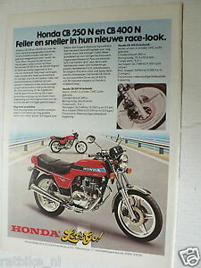 A031- HONDA CB250N AND CB400N MOTORCYCLE ADVERTISEMENT 1978 LET'S GO