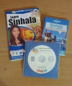 VGC Eurotalk Talk Now Sinhala for Beginners CD ROM & Lonely Planet Phrasebook