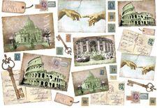 Papier de riz DFS110 Italie Rome Decoupage Rice paper Italy serviette