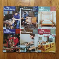 Fine Woodworking Magazine Lot 1989 Complete Year (6) Old Furniture Design Plans
