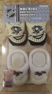 Pittsburgh Penguins Baby Booties Home & Away Reebok 2 Pair Booties Set NHL New