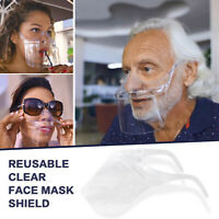 Durable Face Mask Face Visor Protection Combine Plastic Transparent Reusable