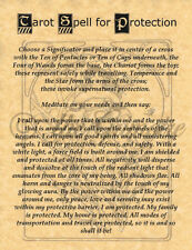 Tarot Spell for Protection, Book of Shadows Page, Witchcraft, Wicca, Pagan
