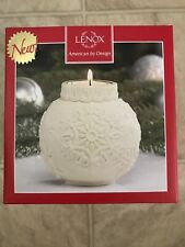 Lenox Ceramic Tealight Candle Holder Snowflake Christmas New in Box.