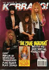 Britny Fox on Kerrang Cover 1989    The Black Crowes    Babylon AD    Wrathchild
