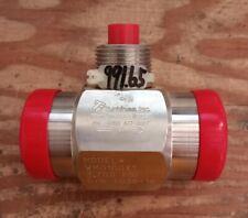 Turbines Inc 1x1 Wafer Flow Meter Wm0100x1 3700psi