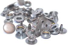 10x 4-teilig Druckknöpfe Druckknopf Ringfeder v. Stocko DUR4, Ø 13 mm, Altkupfer