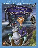 Disney The Adventures of Ichabod and Mr. Toad Blu-ray DVD 2-Disc Set NEW w/ Slip