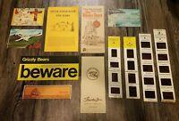 Vintage ALASKA Brochures / Slides  Lot