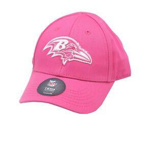 Baltimore Ravens Official NFL Toddler Girls (2-4) OSFM Adjustable Pink Hat Cap