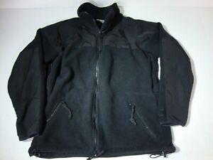 US Military Polartec 300 Cold Weather Fleece Jacket Shirt Black VERY GOOD COND