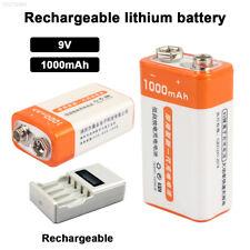 EF72 E391 9V 1000mAh 6F22 Rechargeable Mini New Li-Ion Battery Flashlights
