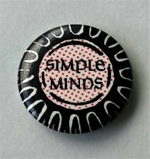 More details for simple minds old metal button badge from the 1980's retro pop