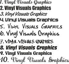 2 x 200mm Custom car sticker laptop car caravan personalised name stickers vinyl