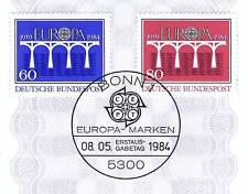 BRD 1984: Brücken! Europamarken Nr. 1210 + 1211 mit Bonner Sonderstempel! 1A 155