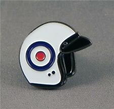 HELMET - LAPEL PIN BADGE - SCOOTER SCOOTERISTS VESPA MODS LAMBRETTA (LK-44)