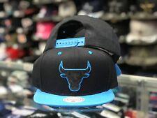 Chicago Bulls Air Jordans Snapshot Blue Snapback Mitchell & Ness Adjustable Hat
