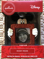 2020 Hallmark Christmas Tree Ornament Mickey Mouse Frame Dated Red Glitter New