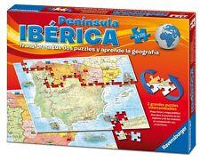 PUZZLE MAPA ESPAÑA PENINSULA IBERICA 2 x 100 PIEZAS Juego Educativo Ravensburger