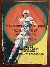 1973 RJ Reynolds High School Football Pgm West Forsyth Reidsville NORTH CAROLINA