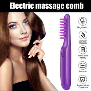 Electric Comb Women Hair Wet Dry Tame The Mane Detangling Brush with Brush KI HG