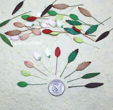 50 Mixed Mini Leaves Leaf Scrapbook Craft Mulberry Paper Artificial Card Wedding