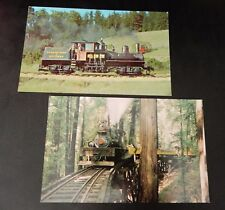 LMH Postcard ROARING CAMP BIG TREES 3/' Narrow-Gauge 2-Truck SHAY Dixiana RC/&BT 1