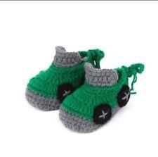 Green Race Car Booties Newborn - 6 Months- Australian supplier