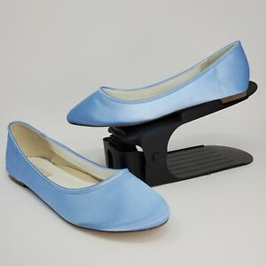 New Parisxox by Arbie Goodfellow Ballet Flats Light Blue Satin Size 9 Wedding