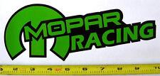 "Mopar Racing! Very Bold! Green on Black HQ Vinyl Sticker Decal 9"" x 3.4""!"