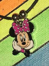 MINNIE MOUSE Necklace NEW Disney Pink Bow Valentine Sweetheart Mickey
