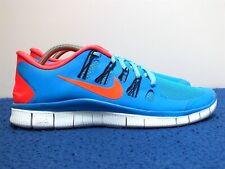 Nike Free 5.0 Men's Running Shoes Blue/ Orange Size 9.5 US