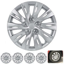 "4 PC Set 16"" Hub Caps Silver Fits Toyota Camry 2012 2013 Replica Wheel Cover"