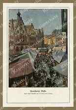 Rudolf Schramm-Zittau Frankfurt am Main Messe Römerberg Marktstände Hessen 1912